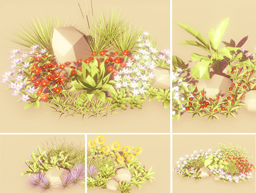 Low Poly Trees Pack - Herbs