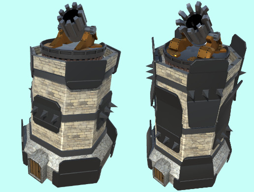 Mortar towers