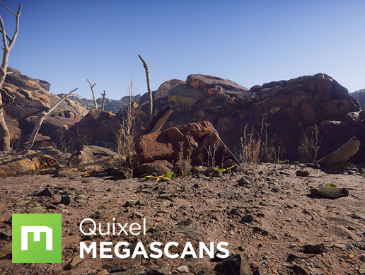 Megascans Lava Field Collection HD