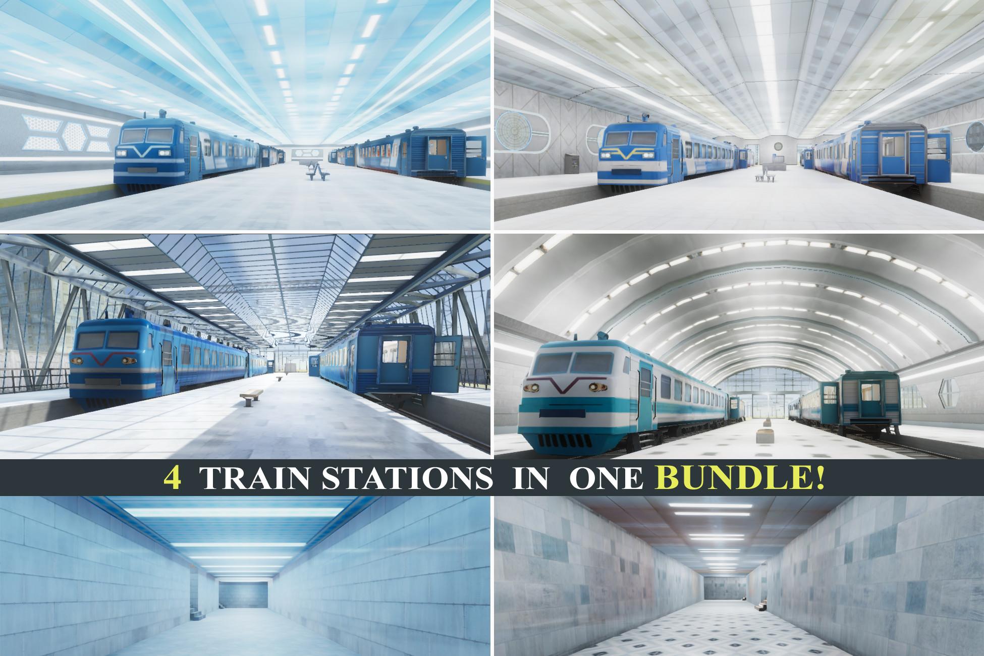 Train Stations Bundle