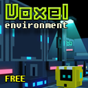 Voxel Scifi Environment - Free version