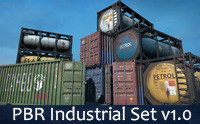 PBR RPG/FPS Game Assets (Industrial Set v1.0)