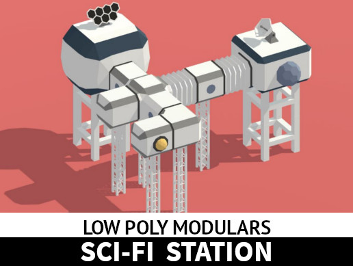 Low Poly Modulars - Sci-Fi Station