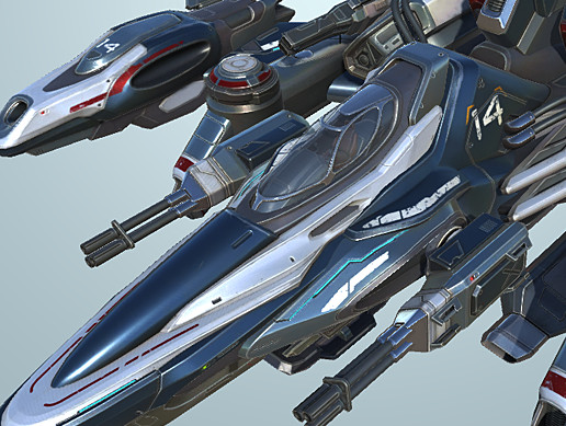 Falcon Medium Fighter Spaceship