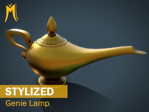 Stylized Genie Lamp