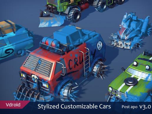 Stylized Customizable Cars (post apo v3)