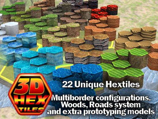 3d Hex Tiles - Asset Store