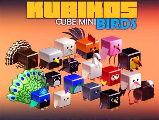 KUBIKOS - Animated Cube Mini BIRDS