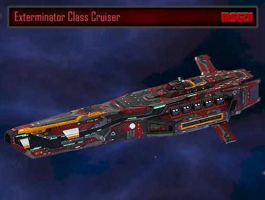 Scifi Battlecruiser Exterminator