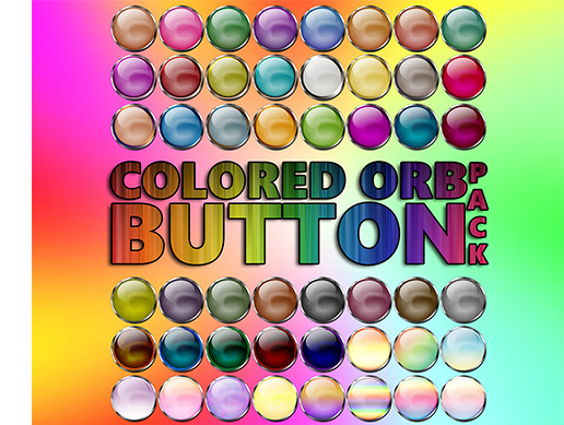 Colored Orb Button Pack