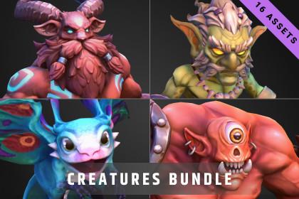 Stylized Fantasy Creatures Bundle #2
