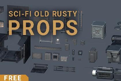 Sci-Fi Old Rusty Props PBR