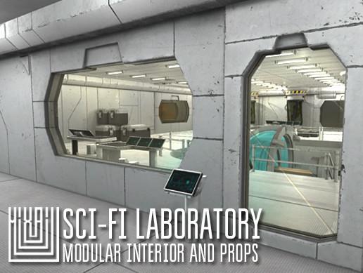 Sci-fi laboratory - modular interior and props
