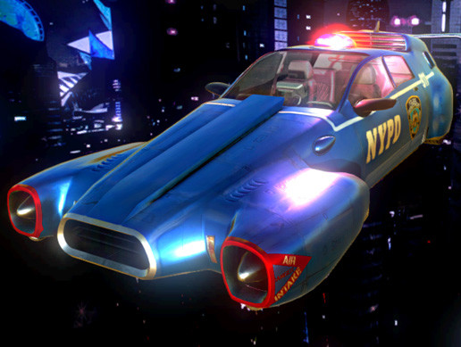 Cyberpunk Flying Car Asset Store
