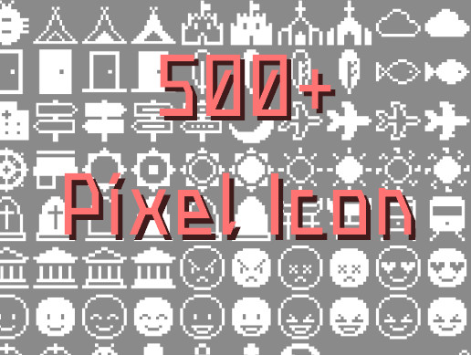 500+ Simple Pixel Icon Pack