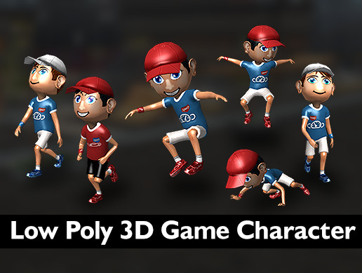 Low poly 3D game character 1