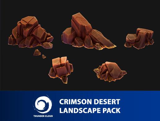 Crimson Desert Landscape Rock pack