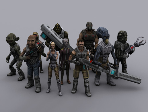 SCI FI SHOOTER CHARACTERS PACK VOL 1
