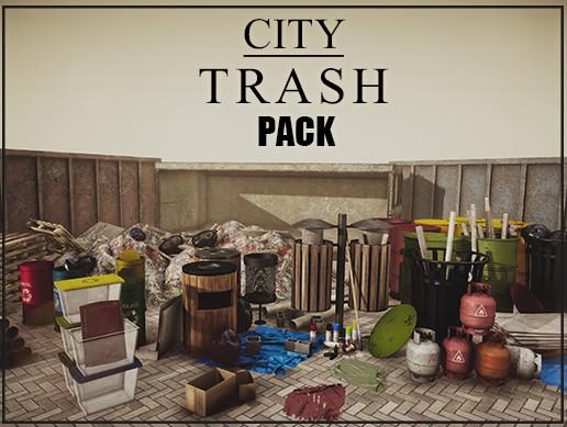 City Trash Pack - 110+ Assets
