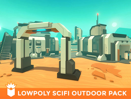 LowPoly SciFi Outdoor Pack