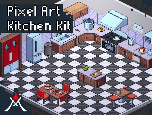 Pixel Art Kitchen Kit