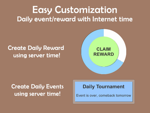 Daily Reward System Internet Time & Date