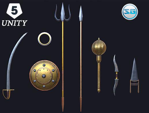 Ancient Asian-Indian Weapons - Asset Store