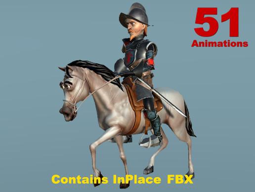 Cartoon Knight & Horse (Full Version)