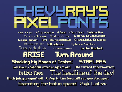 Chevy Ray's Pixel Fonts