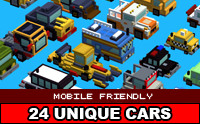 Simple Blocky Cars Pack