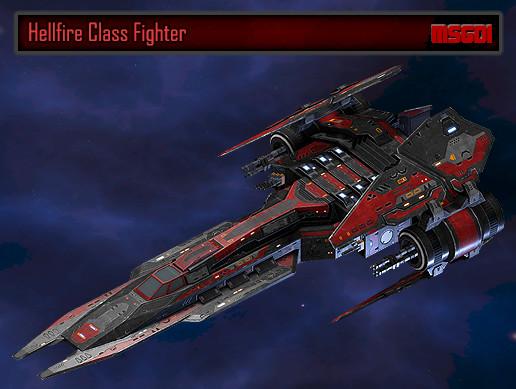 Scifi Fighter Hellfire