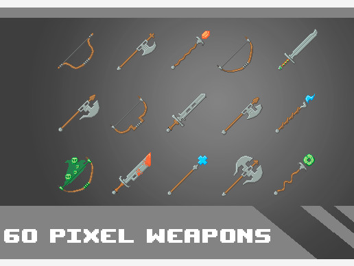 Pixel Weapons Pack 64x64 - Asset Store