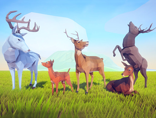 Poly Art: Deer