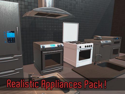 Realistic Kitchen Appliances Pack