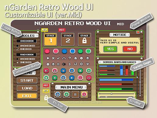 nGarden Retro Wood UI (Medium)