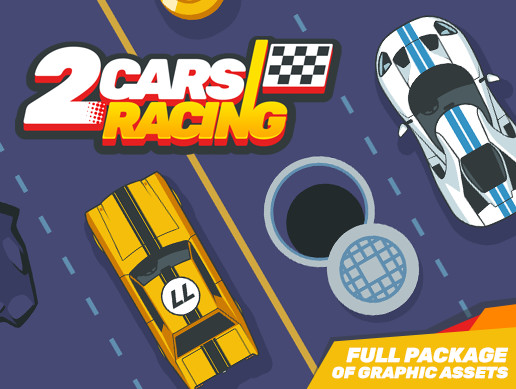 2 Cars Racing - Full Set of Graphic Assets