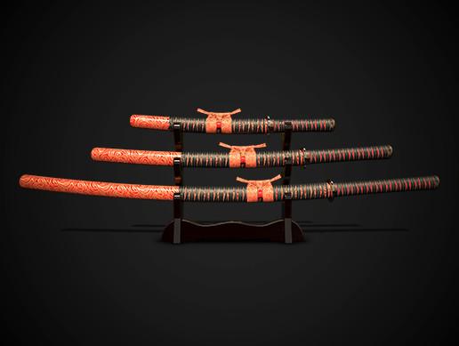 Samurai swords katana set No.3