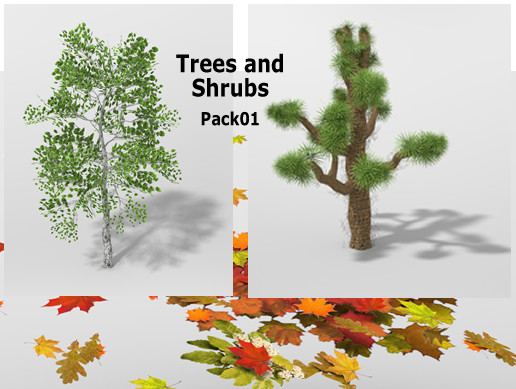 Trees Plants and Bushes Pack01