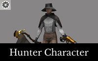 Hunter - Low Poly Character -