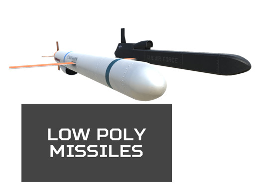 Low Poly Missile Pack