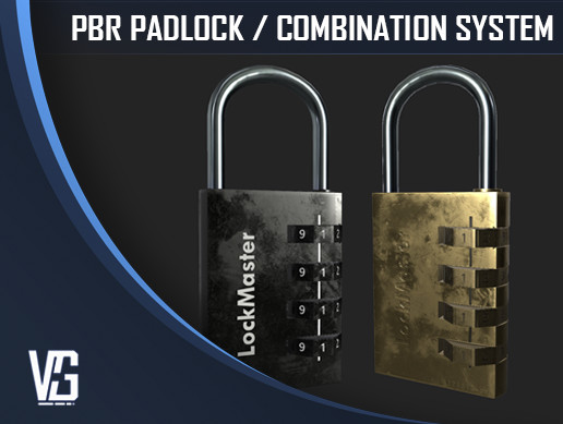 Padlock Puzzle System - PBR