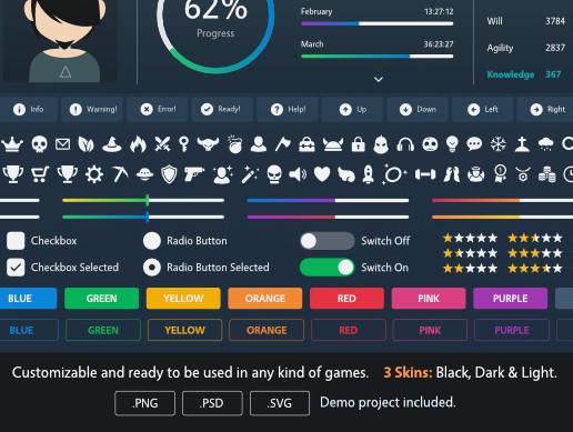 Clean & Minimalist GUI Pack - Asset Store