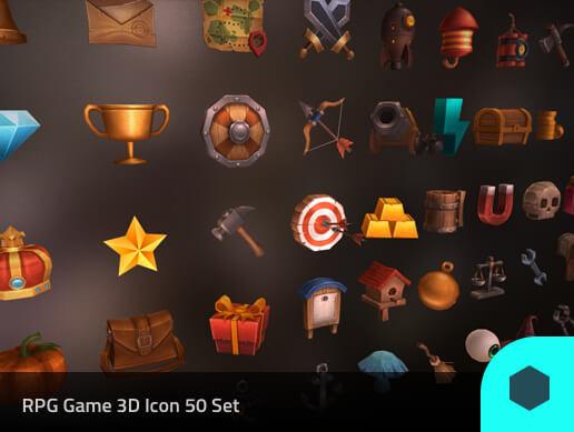 3D Models Prop RPG 50 Set Pack02