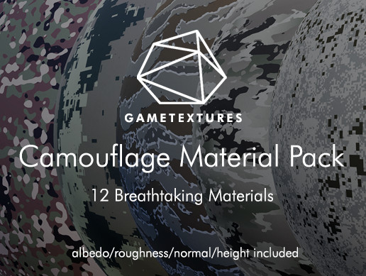 Camouflage Material Pack by GameTextures
