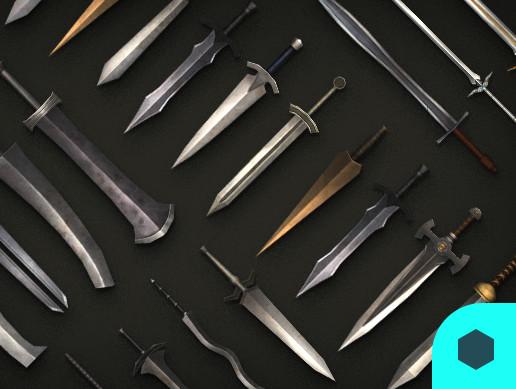 3D Models Prop Sword 50Set Pack01