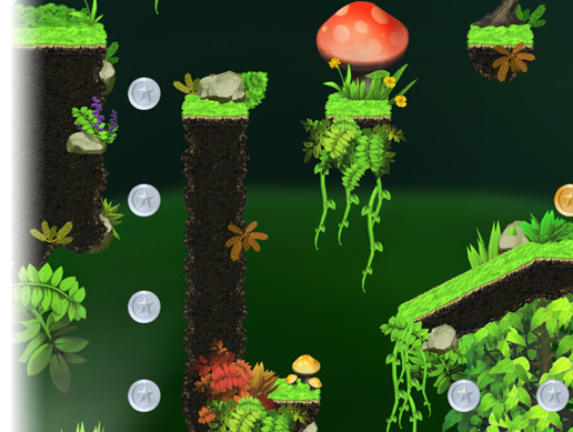 Platformer Tileset : Magic Forest