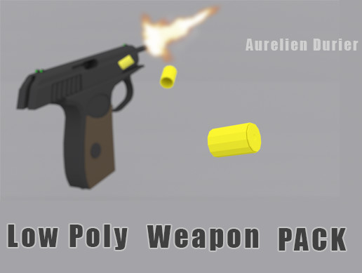 Low Poly Modern Weapons Pack