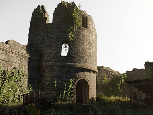 Castle Ruins - PBR Destroyed Castle Parts