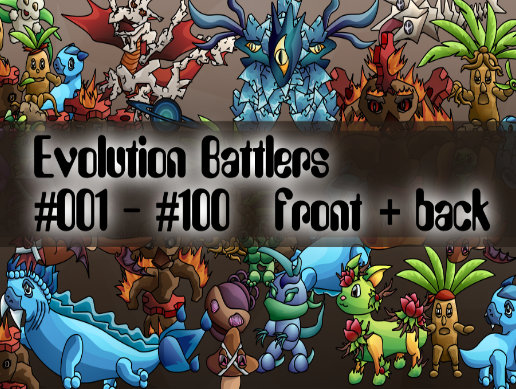 Evolution Monsters #001 - #100 Pack