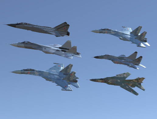 Russian Air Forces Jet Fighters Pack